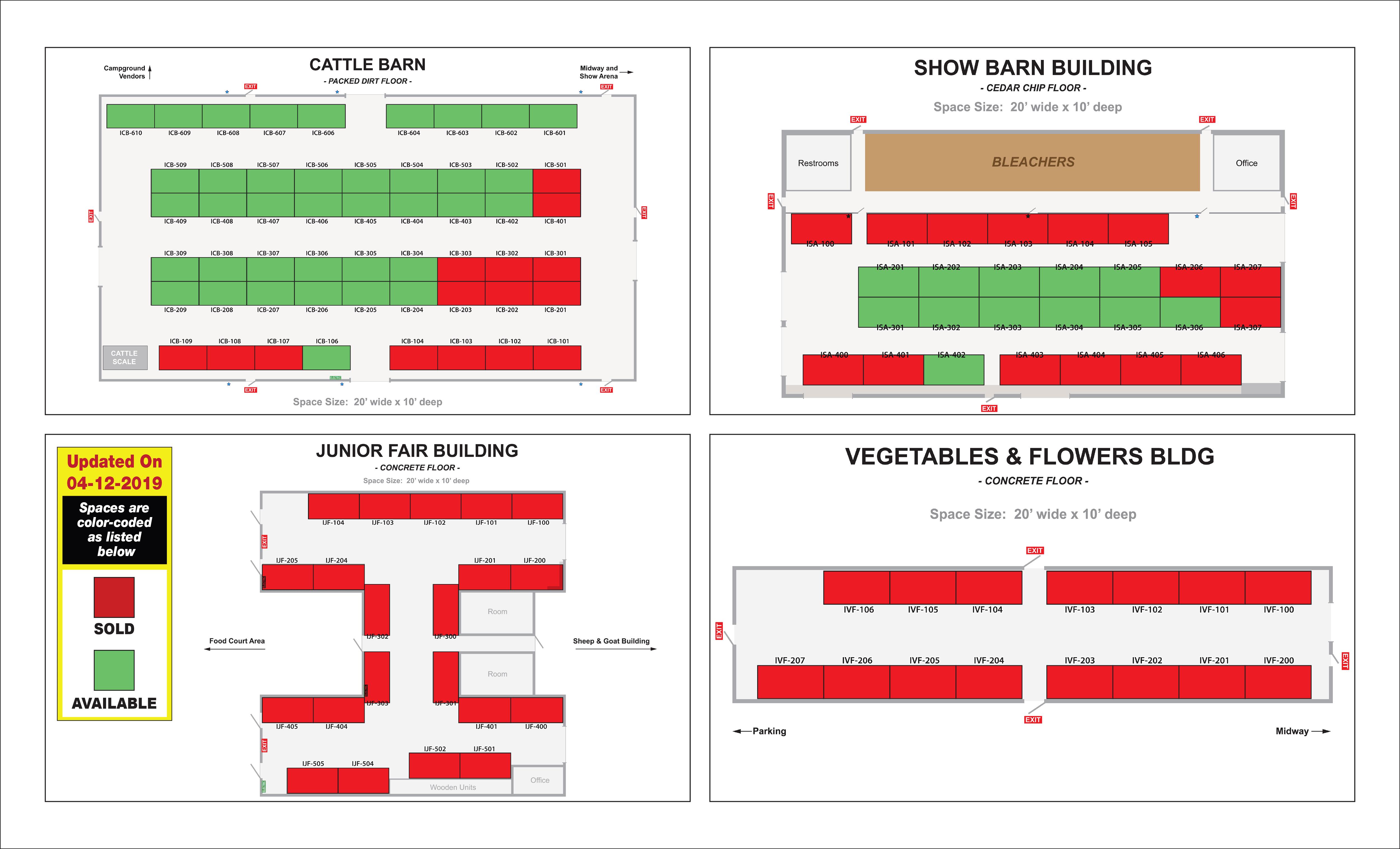 Indoor Vendor Map Availability
