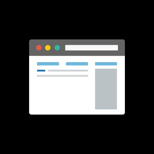 Illustration of web browser