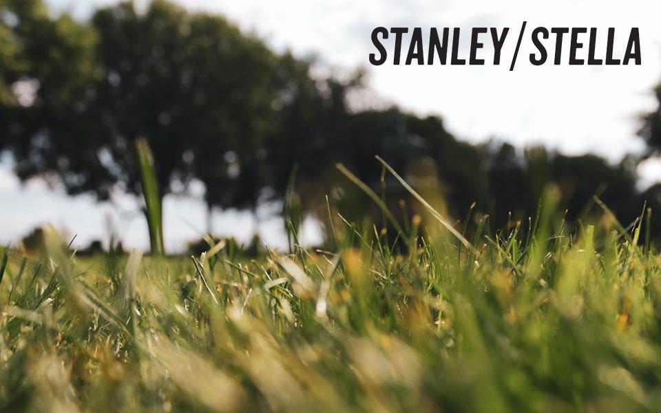 Wald und Wiese mit Stanley/Stella-Logo