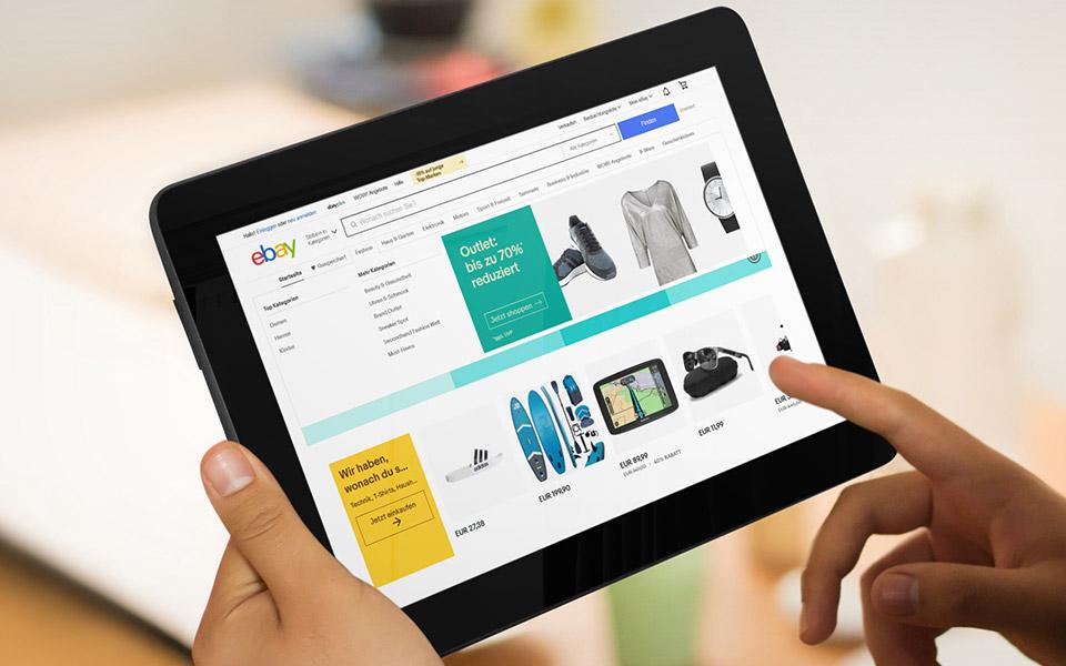 Tablet mit eBay-App