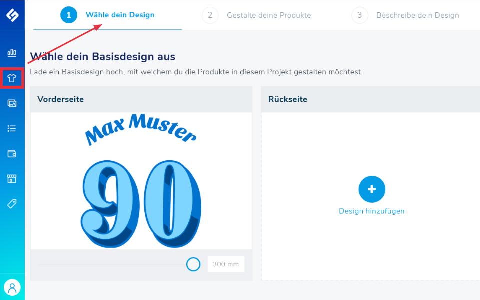 Shirtigo Cockpit Backend: Produktgestaltung