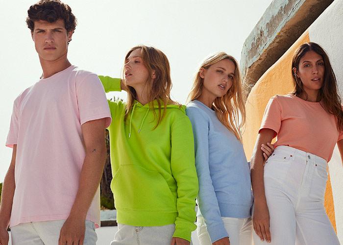 Models tragen Organic-Textilien