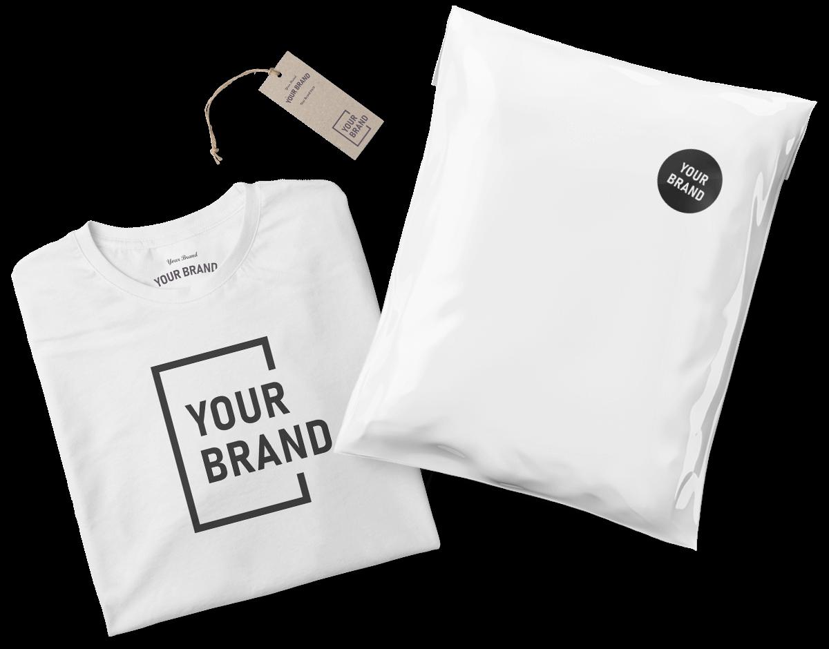 Mit eigenem Branding versehene Produkte und Versandverpackung