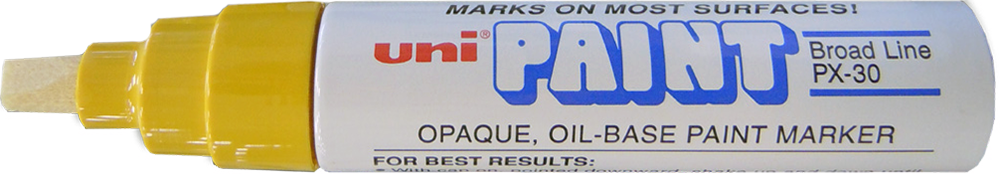 Uni-Paint PX-30 Oil Based Paint Marker Broad Tip