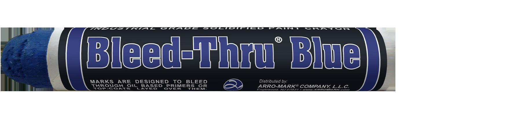 Bleed-Thru Blue