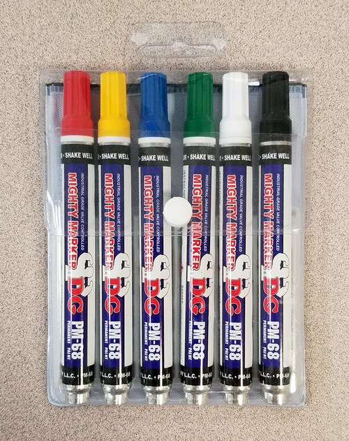 Mighty Marker® DG PM-68 Degrease Resistant Marker 6-Pack