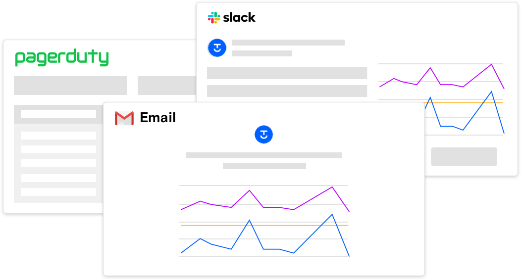 alerts for pagerduty slack and email