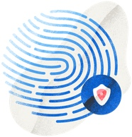 fingerprint with secure badge