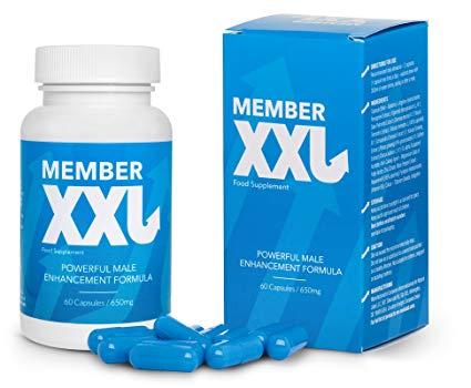 member xxl con flacone e confezione in primo piano
