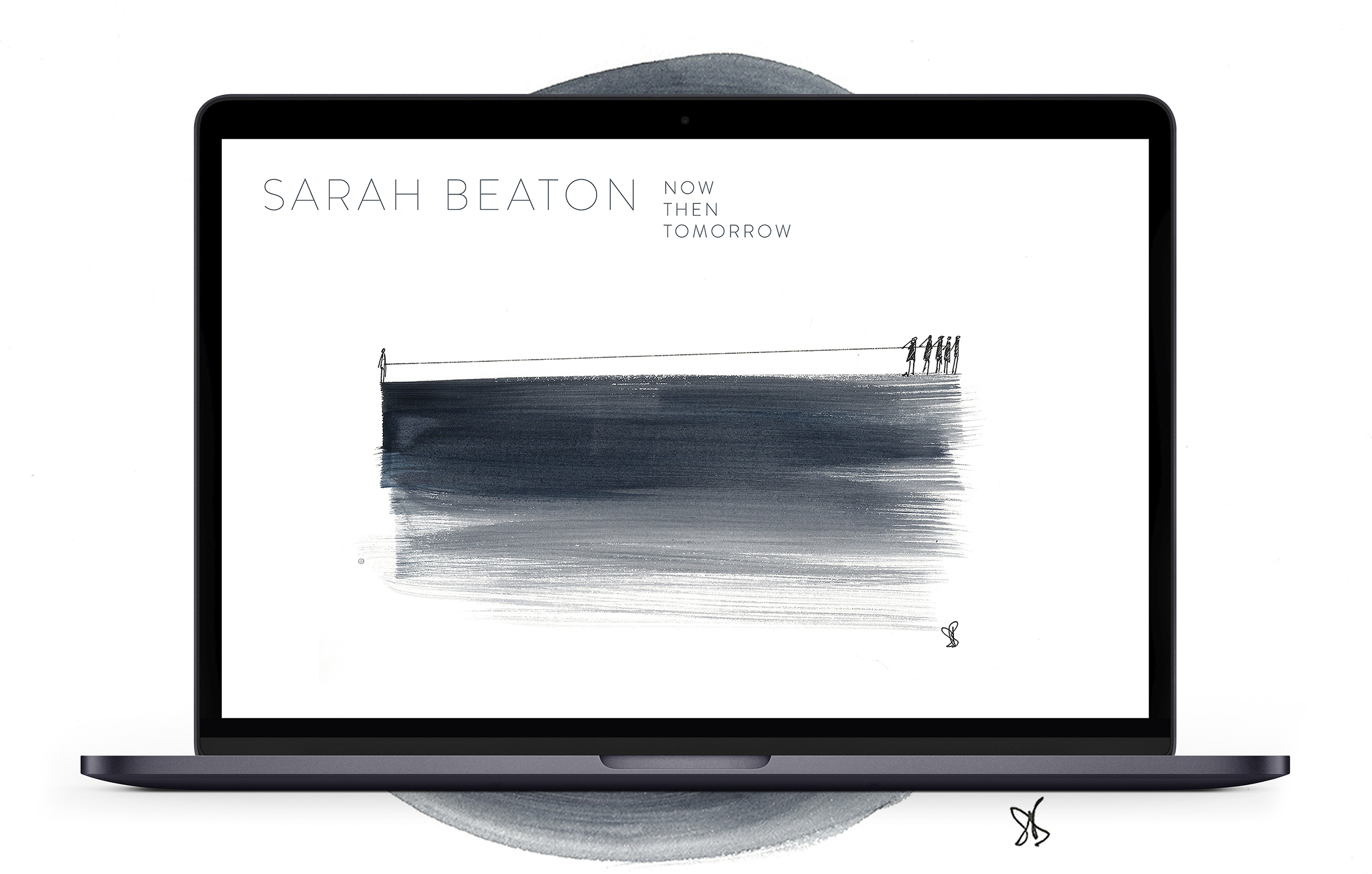 Example of Sarah Beaton's website designed and developed by Talking Horse