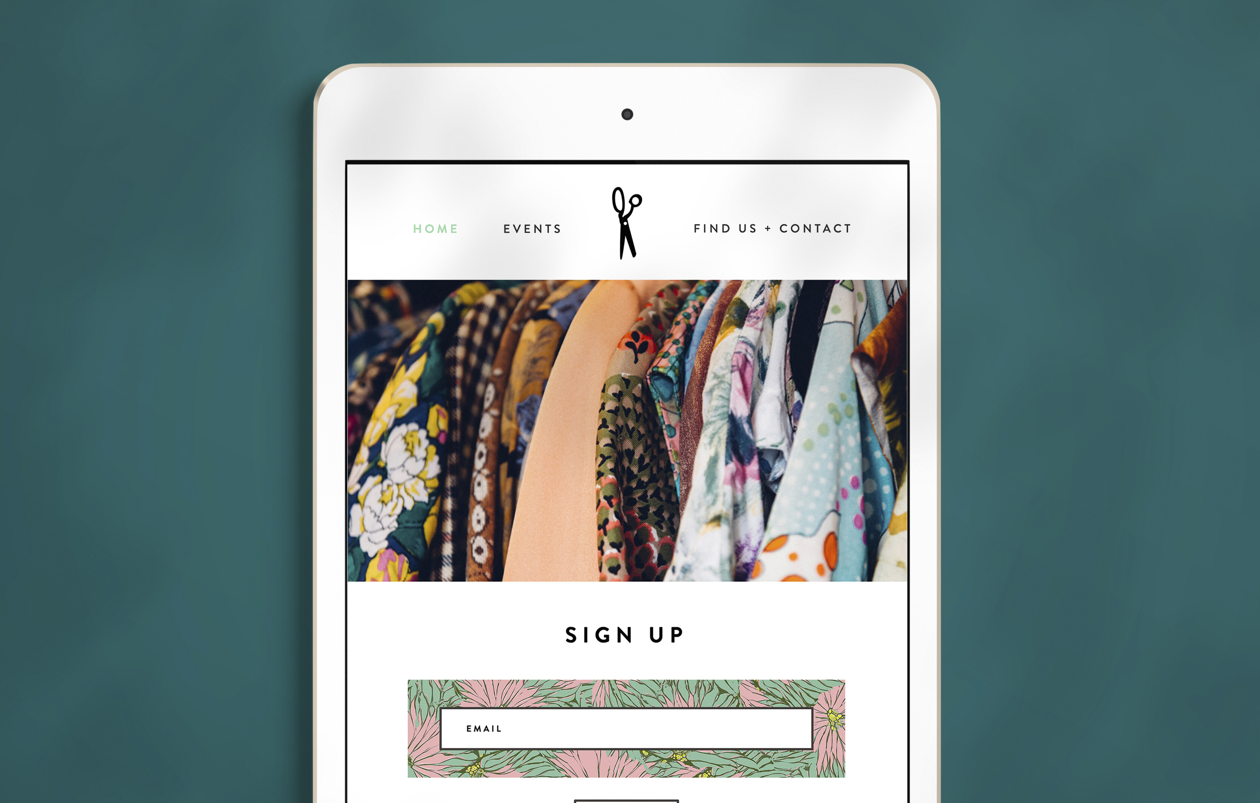 Example of the Make Do and Mend website, designed and developed by Talking Horse