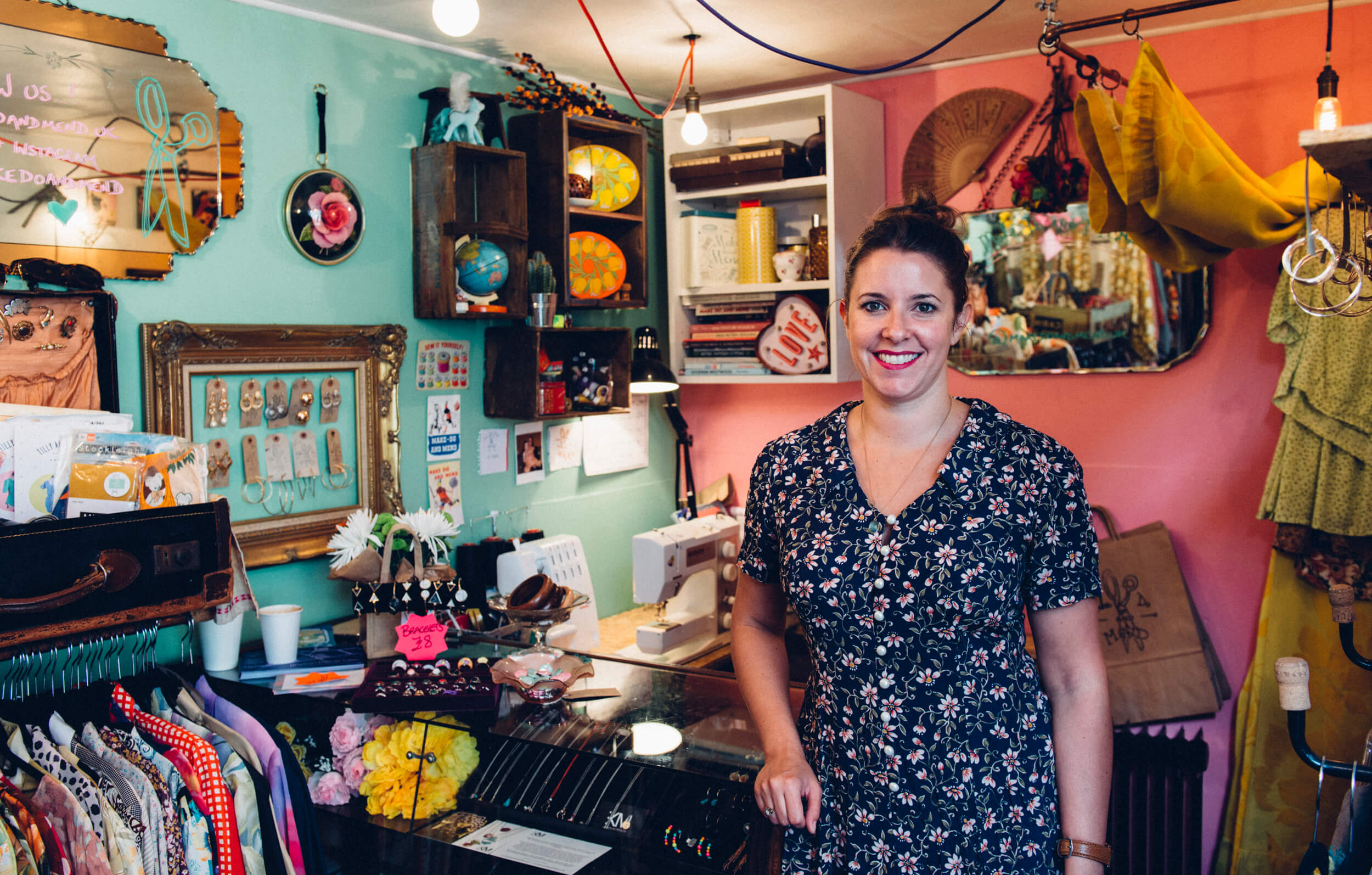 Sarah Robins, the owner of Make Do and Mend in Brixton