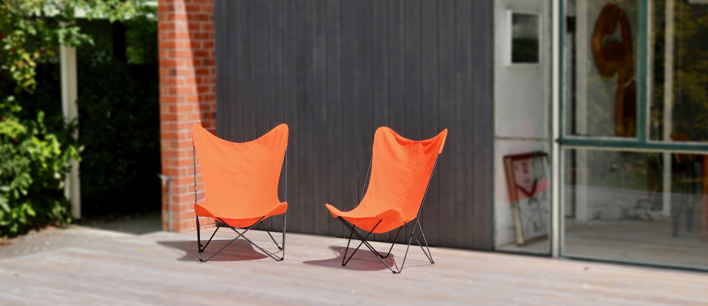 Orange replacement director chair covers.