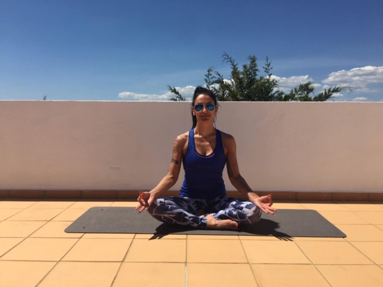 Cristina doing yoga