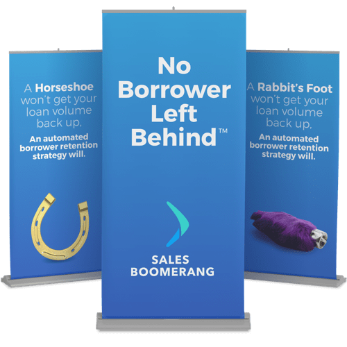 Three retractable banners