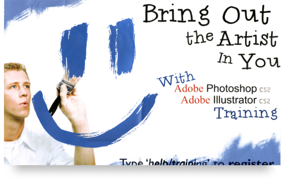 Print ad for a photoshop training session.