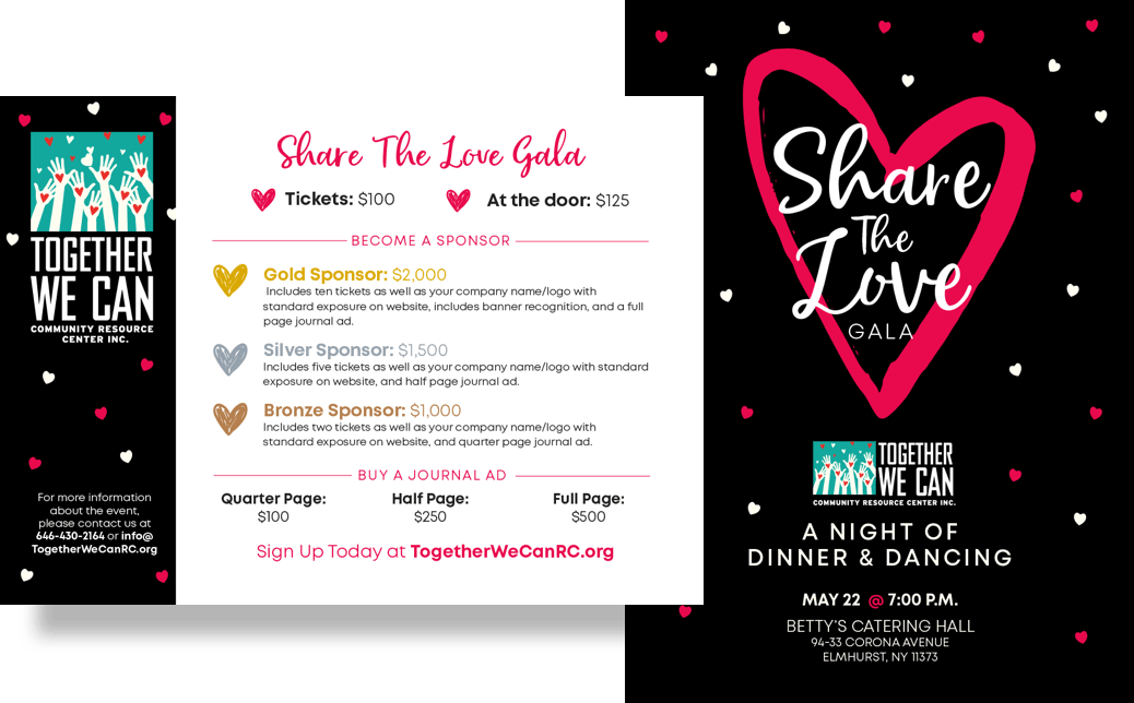 Invitation to the Share the Love Gala