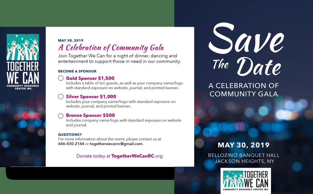 Invitation to the Celebration of Community Gala.
