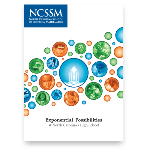 A NCSSM admission brochure that was handed out to high school students across North Carolina.