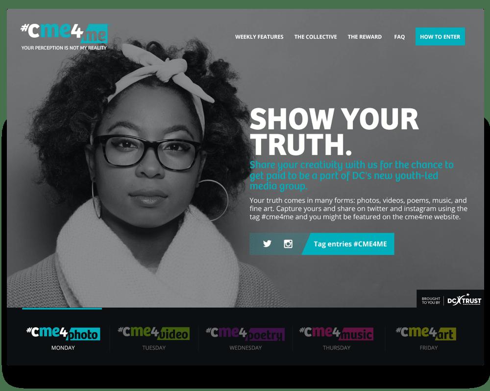 Screenshot of the CMe4Me website.