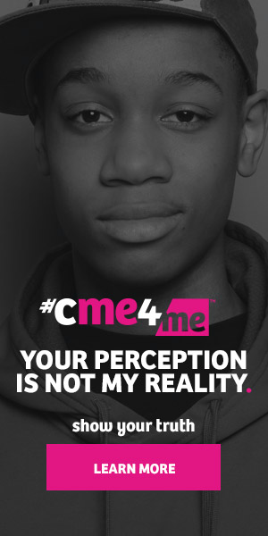 """300x600 ad says """"Your perception is not my reality learn more."""""""