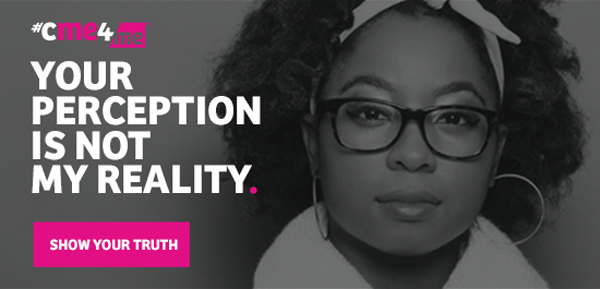 """Email banner that says """"Your perception is not my reality learn more."""""""
