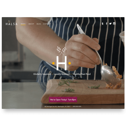Halsa was a healthy Brookland cafe in Washington, DC. We designed the website showcasing a menu, blog, and directory.