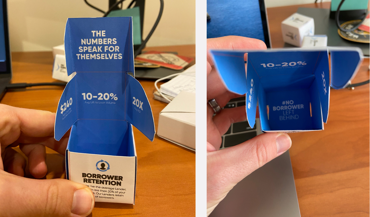 Photos of paper mockups