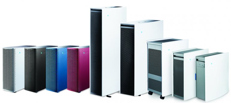 Different sized air purifiers