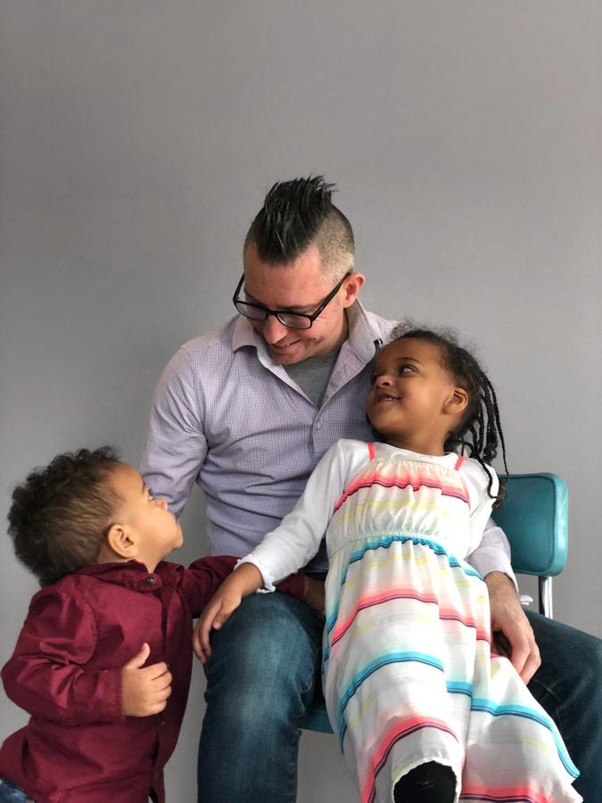 Michael Ward and kids image