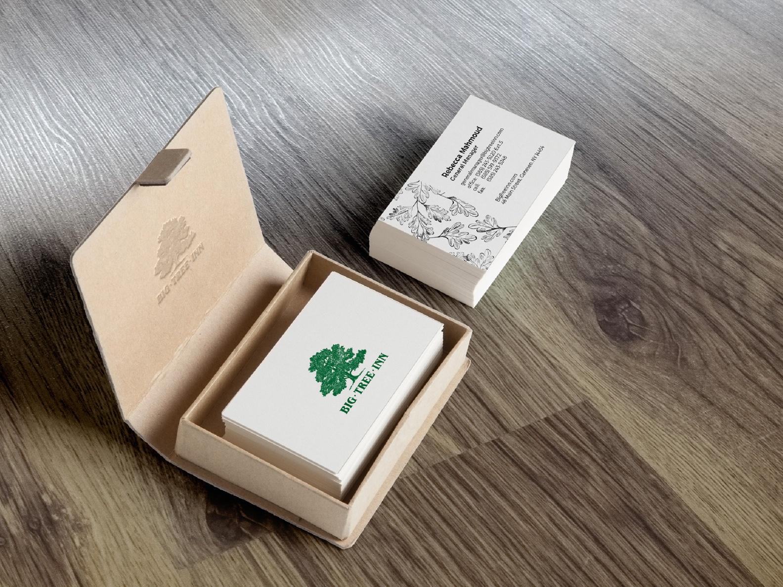 Business cards, Big Tree Inn