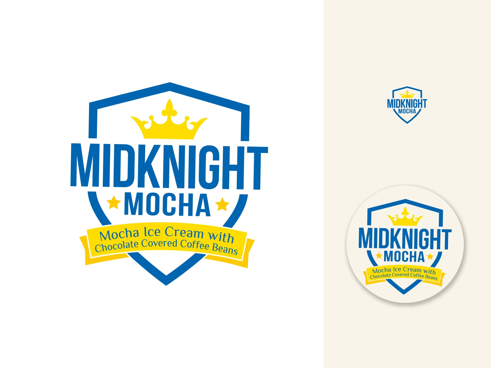 MidKnight Mocha Ice Cream mark and Label
