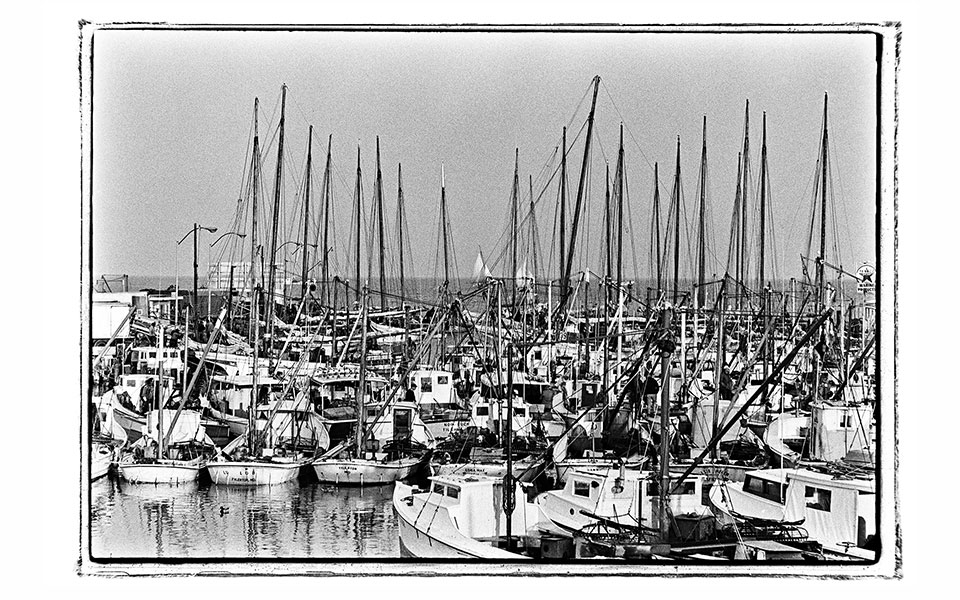 photograph of sailboats by Robert de Gast