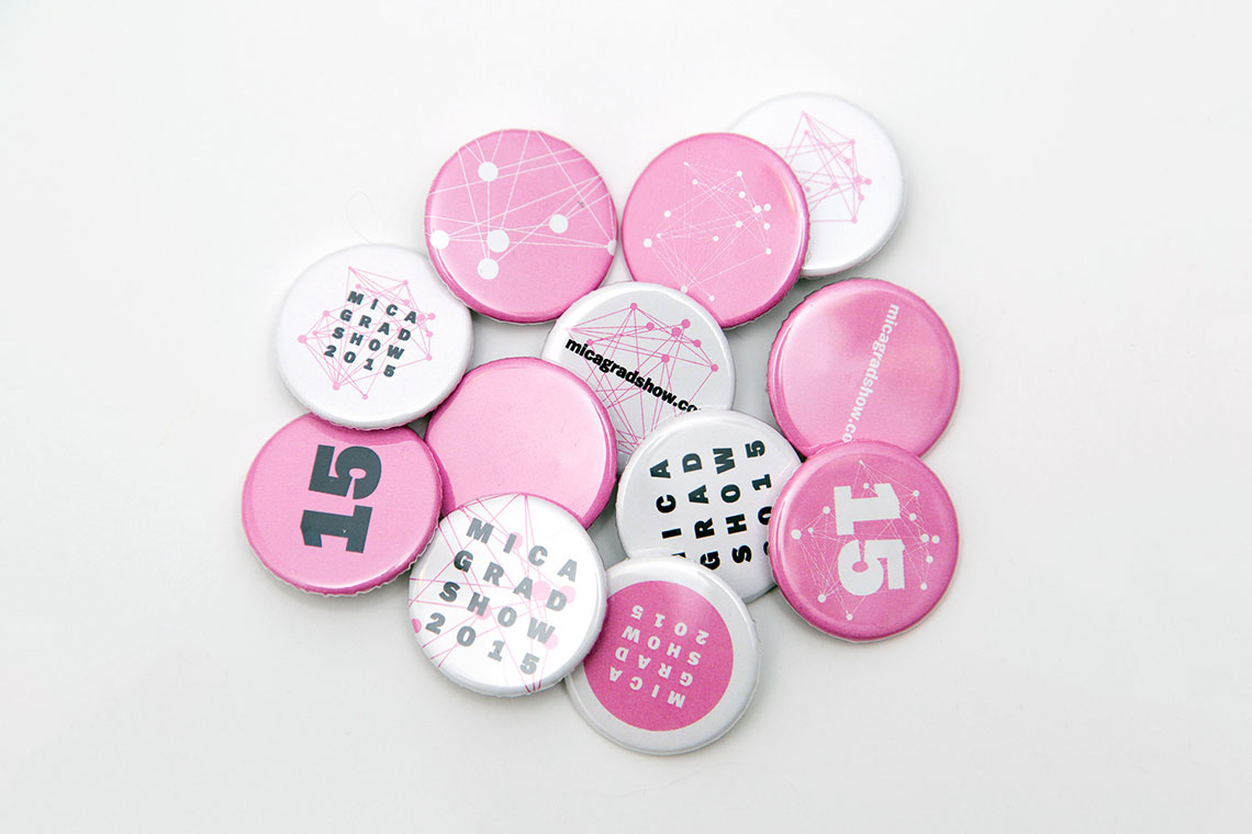 MICA Grad Show buttons