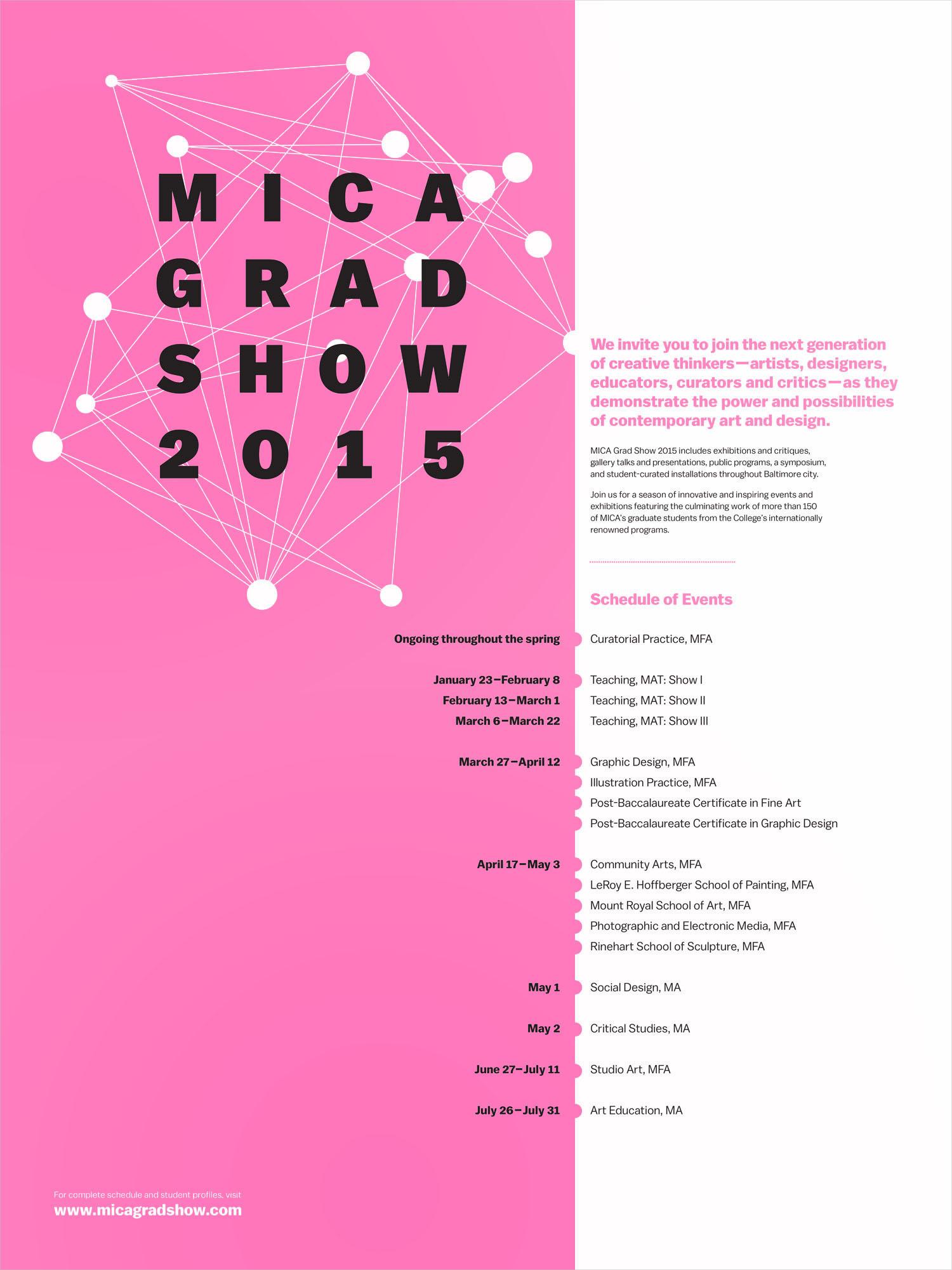 MICA Grad Show poster