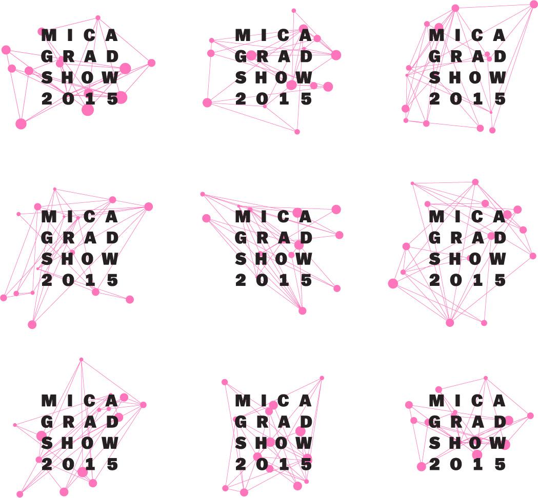 MICA Grad Show logo variations