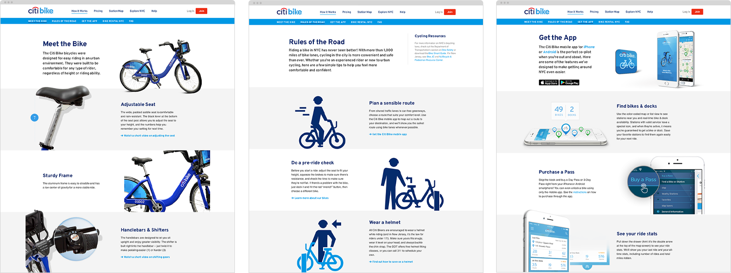 banded template for Citi Bike
