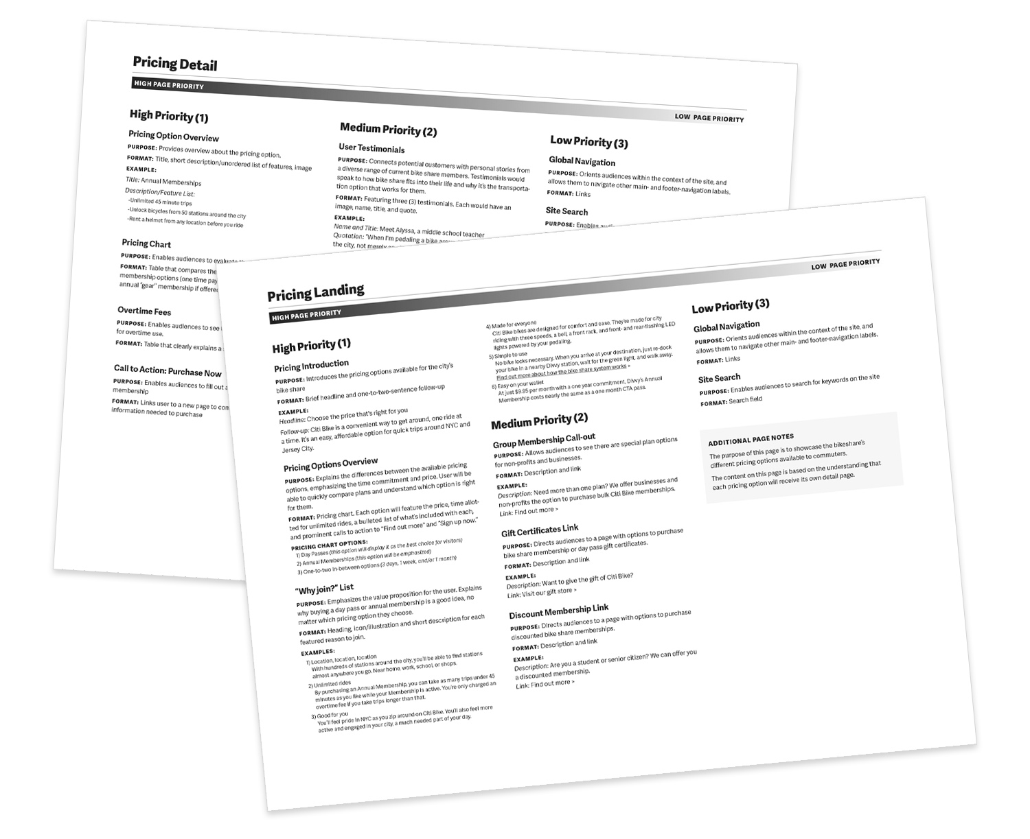 page description diagrams