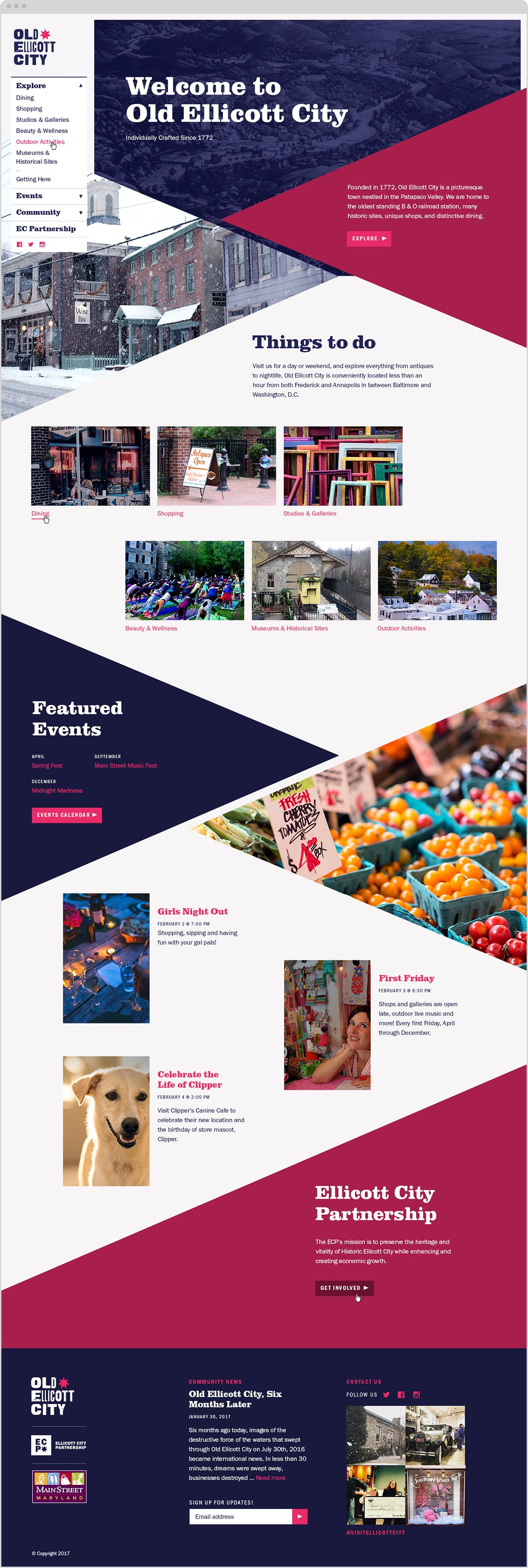 Old Ellicott City website homepage