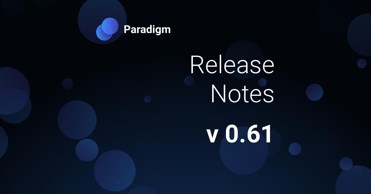 Release Notes (v 0.61)