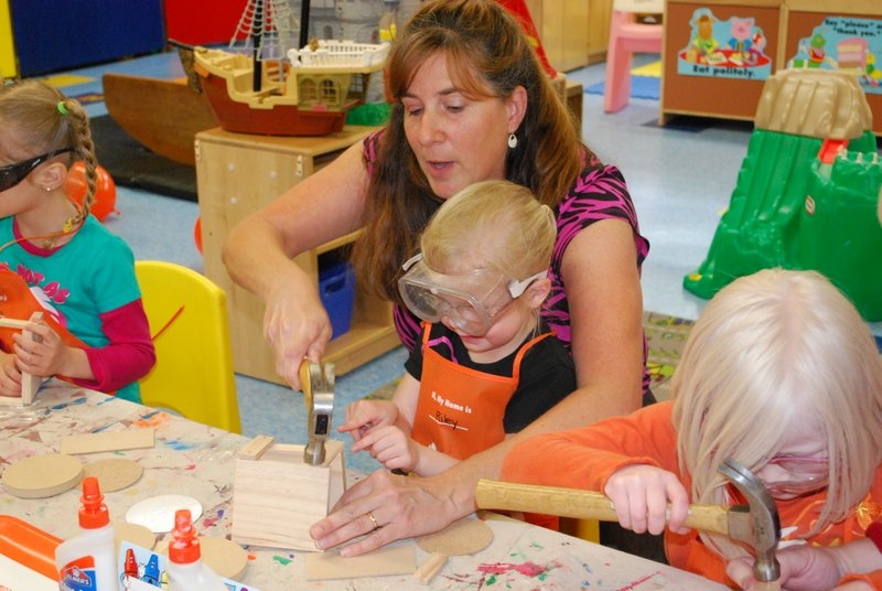 Working with kids at UCC Nursery School