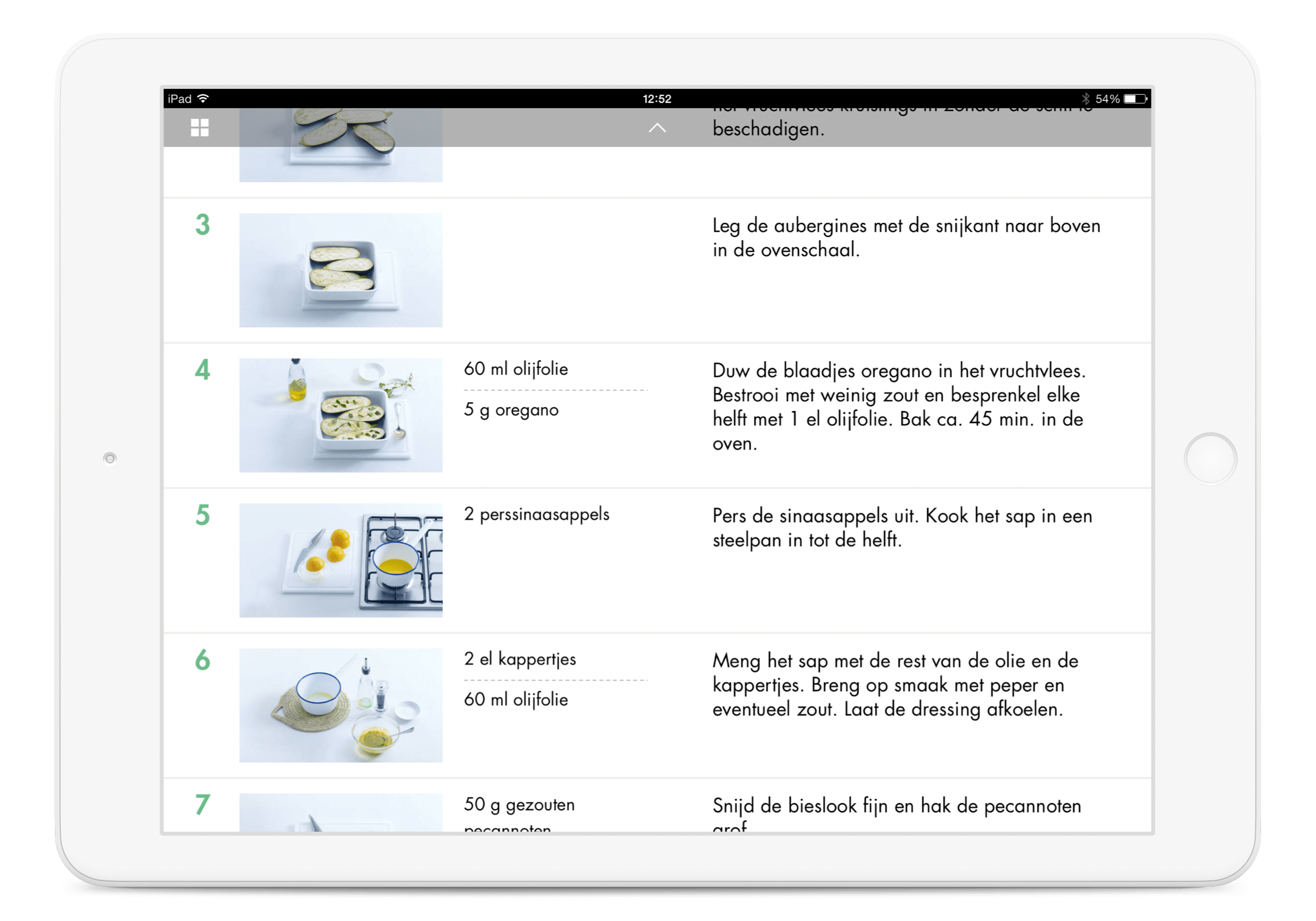 Allerhande iPad App, step by step instructions