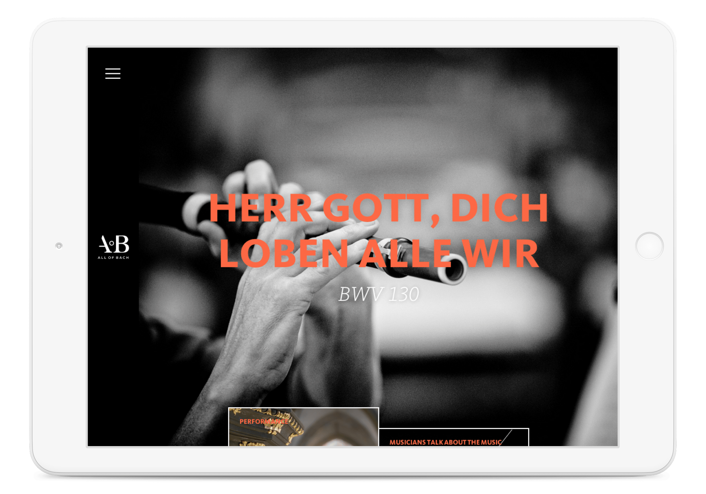 All of Bach website, edition landing page