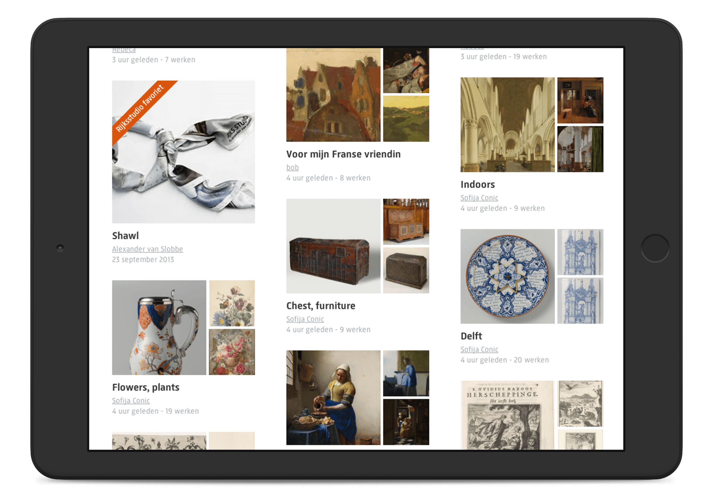 Rijksmuseum website, Rijksstudio stream