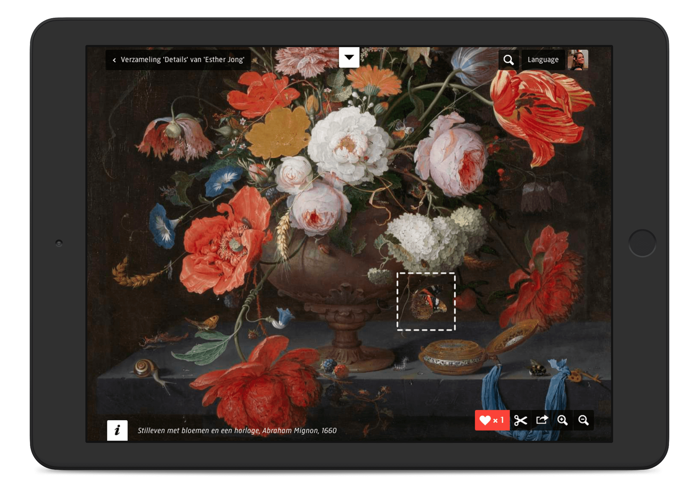 Rijksmuseum website, object detail page