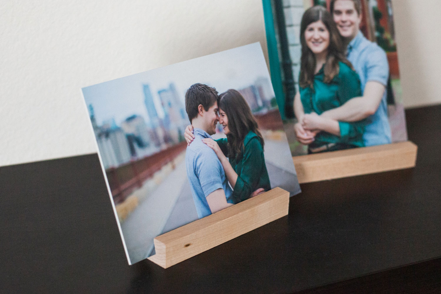 Mounted Photographic Prints in Wooden Display Stands by Laura Leigh Images