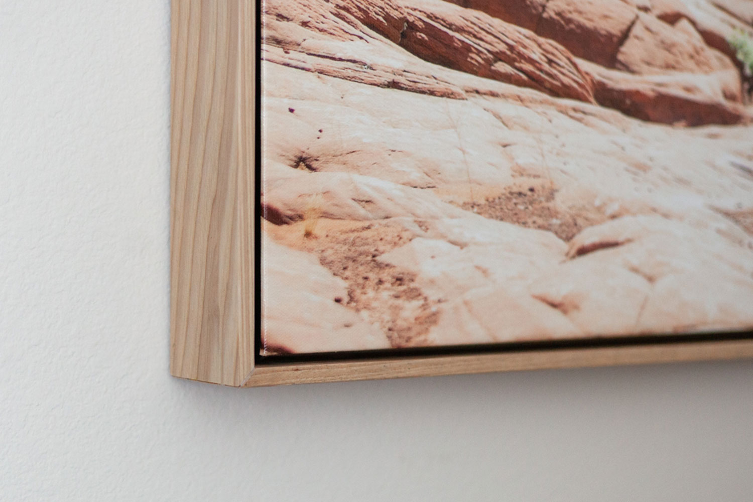 Corner detail of a gallery wrapped canvas photography print by Laura Leigh Images