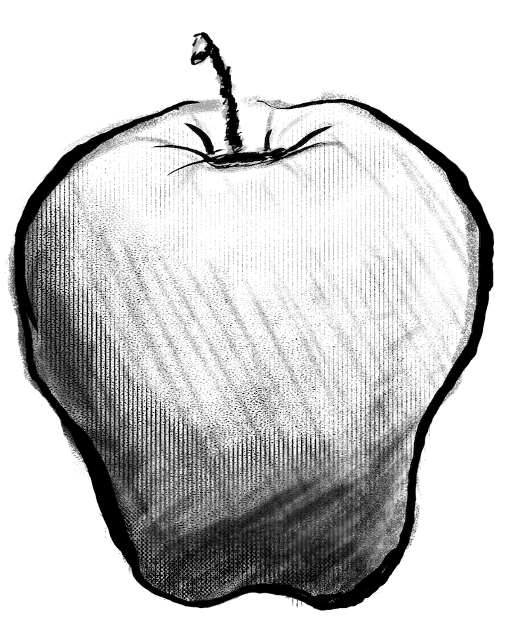 Compostable Illustrated apple