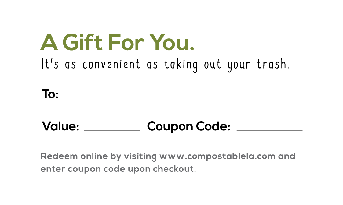 Compostable Gift Card Back