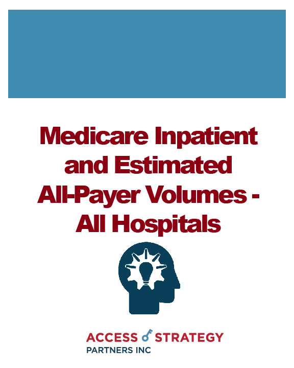 Medicare Inpatient and Estimated All-Payer Volumes - All Hospitals
